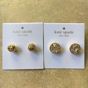 TWO pairs of Kate Spade earrings!